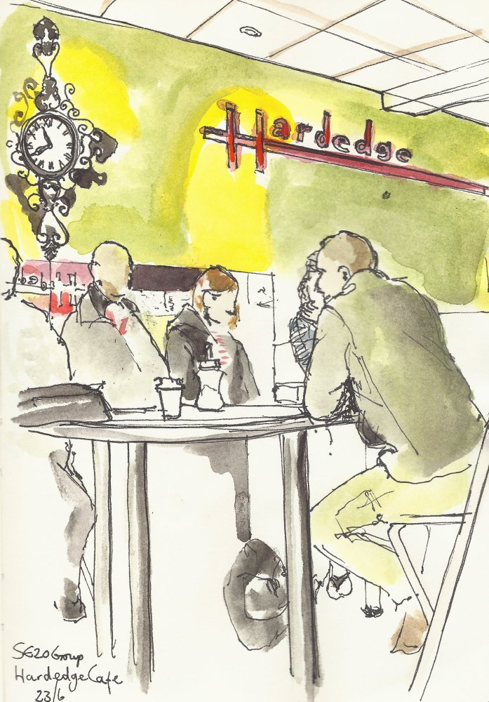 SE20 Art Group at the Hardedge Cafe, Penge.
