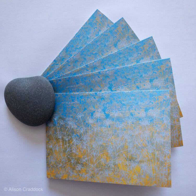Seedheads set of 5 cards