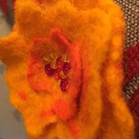 Felt flower closeup