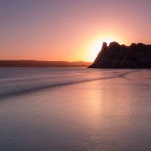 Sundown over Three Cliffs Bay