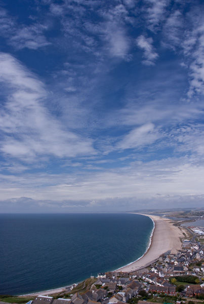 View over Chesil Beach