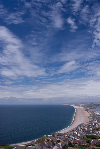 Chesil Beach from on High