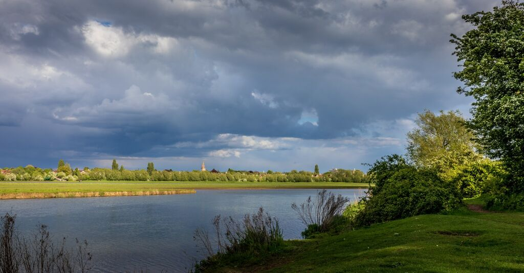 Sky falling over Port Meadow