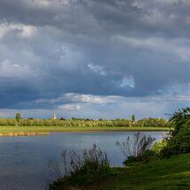 Sky falling over Port Meadow