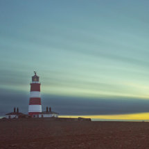 Sun Down behind Happisburgh Lighthouse