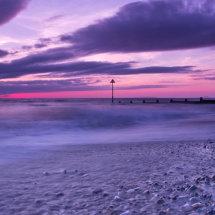 Sunset over Tywyn