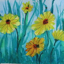 Easy Daisy Watercolour