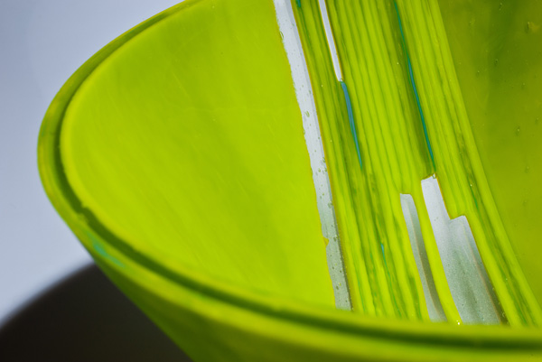 Green Drop Formed Close Up