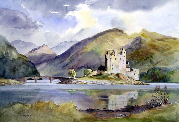 Eilean Donan Castle - Watercolour