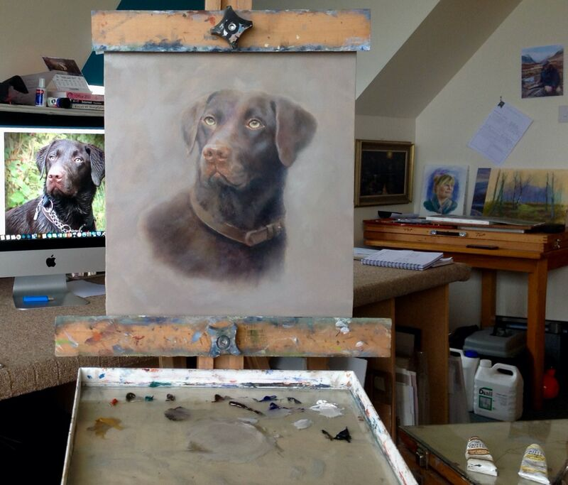 My painting setup and subject