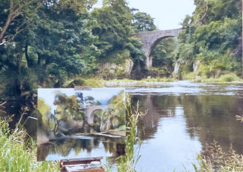 "Painting the ""Bridge Of Alvah'"