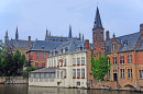 Hotel beside a Canal, in Bruges