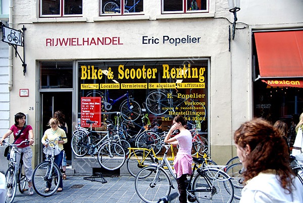 The Cycle Hire Shop in Bruges