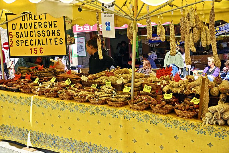 Meat Stall in Besse-en-Chandesse