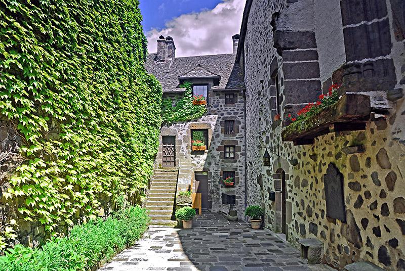 Courtyard in Salers, Auvergne