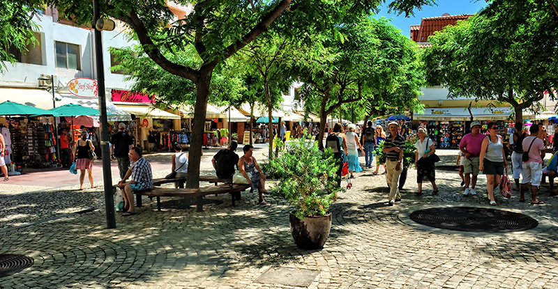 Shady Square in Albufeira