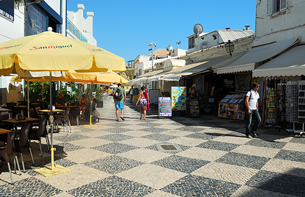 Cafes and Shops in Albufeira