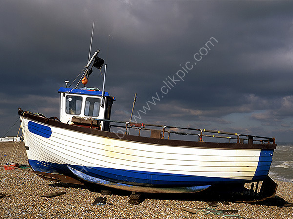 A Fishing Boat on Dungeness Beach
