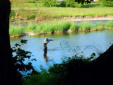 Fishing in the River Wye,Builth Wells