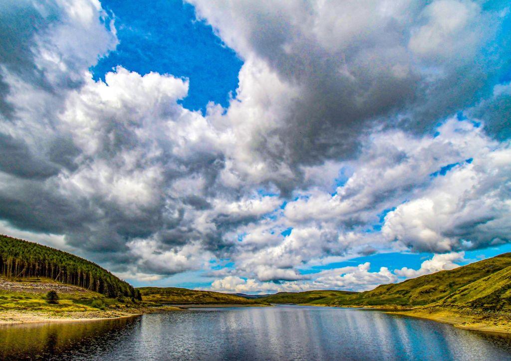 Nant y Moch reservoir, Wales, UK