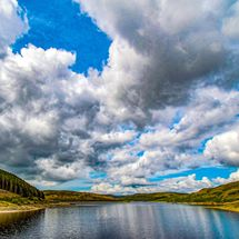 Nant y Moch reservoir, Wales, UK