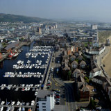 View of Swansea Marina from Meridian Tower.