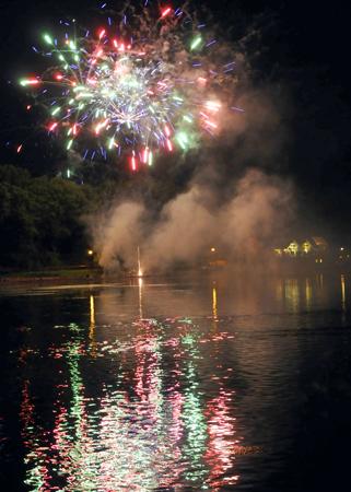 Festival Fireworks over Llandrindod Wells Lake