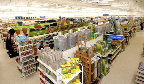 Interior of new supermarket
