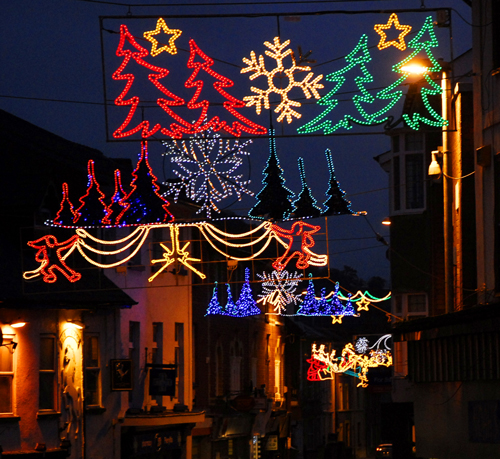 Chirstmas Lights 2014, Builth Wells,Powys