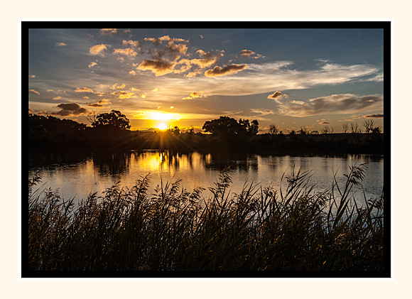 Sunset At Murray Bridge