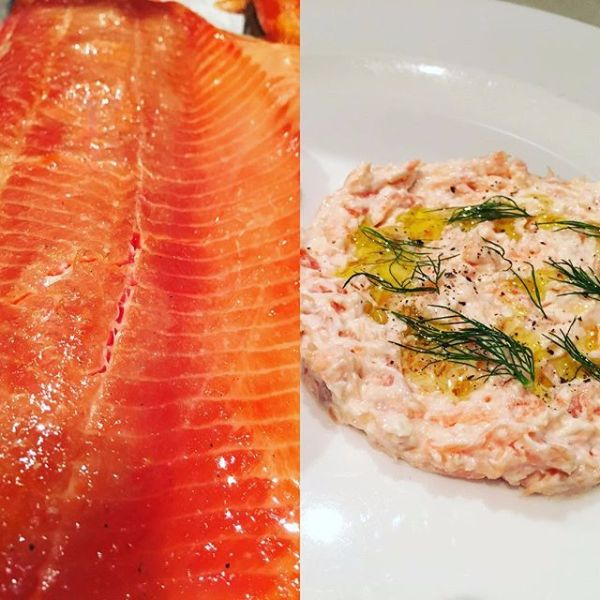 Apple wood smoked ocean trout