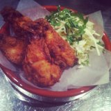 Max's fried quail, parsley and apple slaw