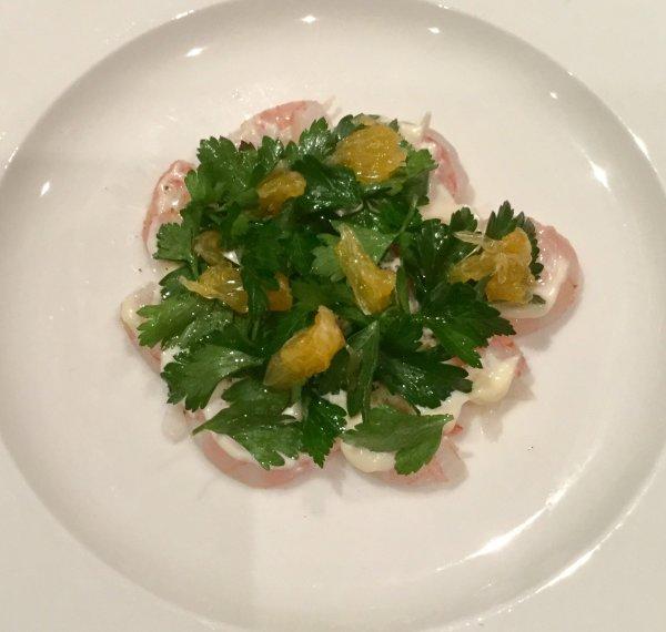 Royal reds, mandarin, parsley salad