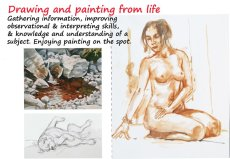 Drawing & painting from life.