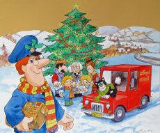 32. Cover design for Postman Pat Christmas Event leaflet.