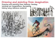 Drawing and painting from imagination