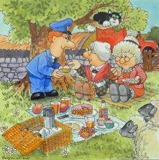 29. Pat, Mrs Goggins & Granny Dryden picnic.