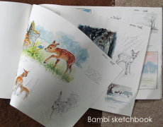 Bambi-  drawings for a proposed book