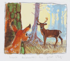 Bambi detail.  He encounters the great stag.