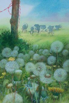 Cow-&-dandelions