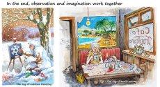 Joy = observation + imagination
