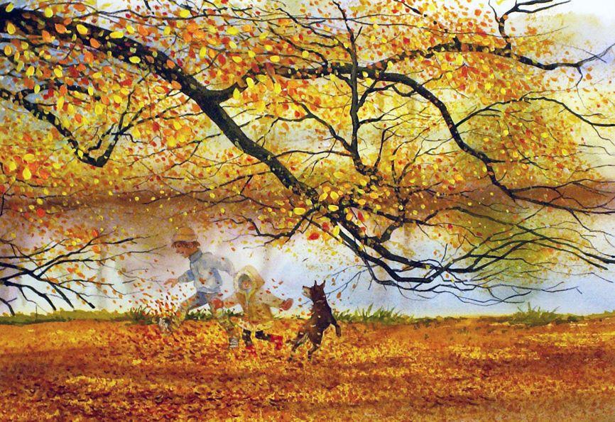 Kicking leaves