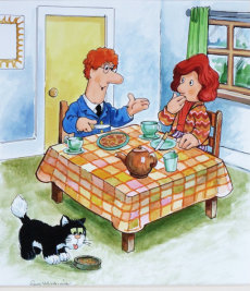 20. Pat and Sarah at breakfast