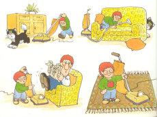 23. Pat gets  vacuumed.