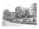 'Hexham Abbey' - signed limited edition fine art print