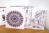 Durham Square Cards Pack of 4 - Rose Window and Owengate