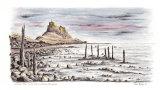 'Lindisfarne Castle' - signed limited edition fine art print