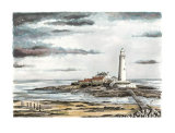 St. Mary's Lighthouse (in colour)