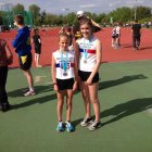 Amber Park and Kelsie Ellis 300m medalists