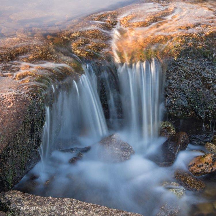 Detail van een waterval
